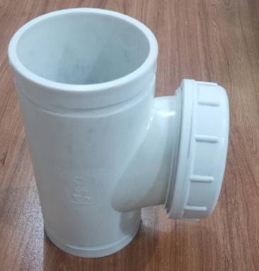 PE沟槽式排水管件-立检口