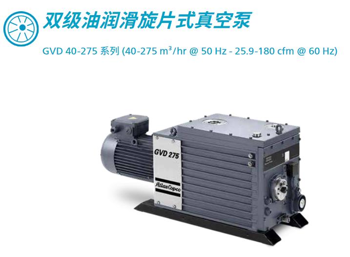 双极有润滑旋片式真空泵GVD 40-275