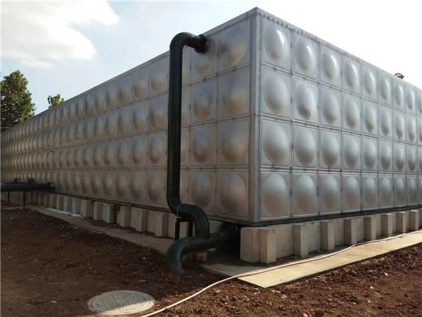 陕西方形不锈钢水箱安装效果图!