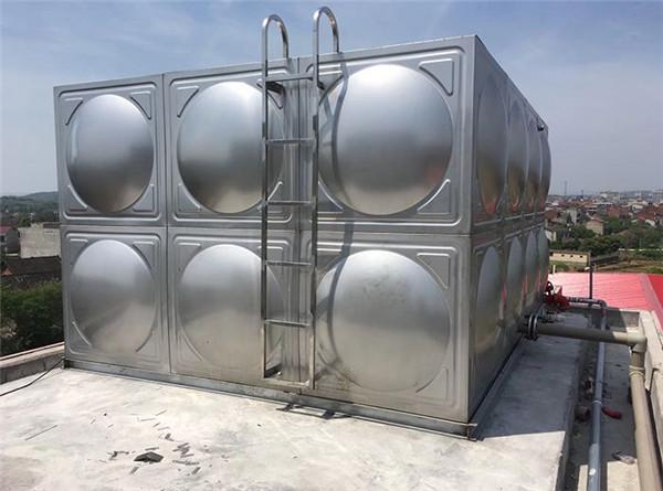 陕西方形不锈钢水箱施工效果图!