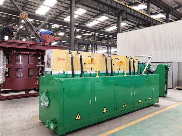 350kW铝合金中频感应全自动加热生产线
