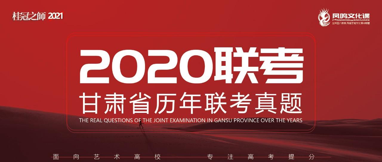 【2020联考】甘肃省历年联考真题