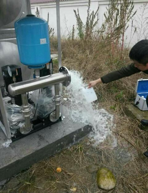 四川供水设备案例——成都二绕供水检验