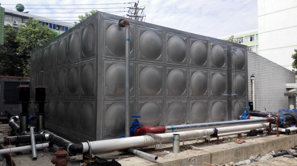 成都不锈钢水箱成功案例---成都大学126吨不锈钢水箱