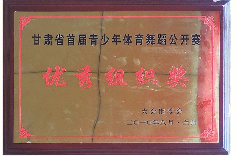 甘肃省青少年体育舞蹈公开赛..组织奖