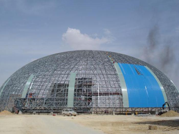 内蒙古西水水泥5000T熟料生产线均化库网架工程