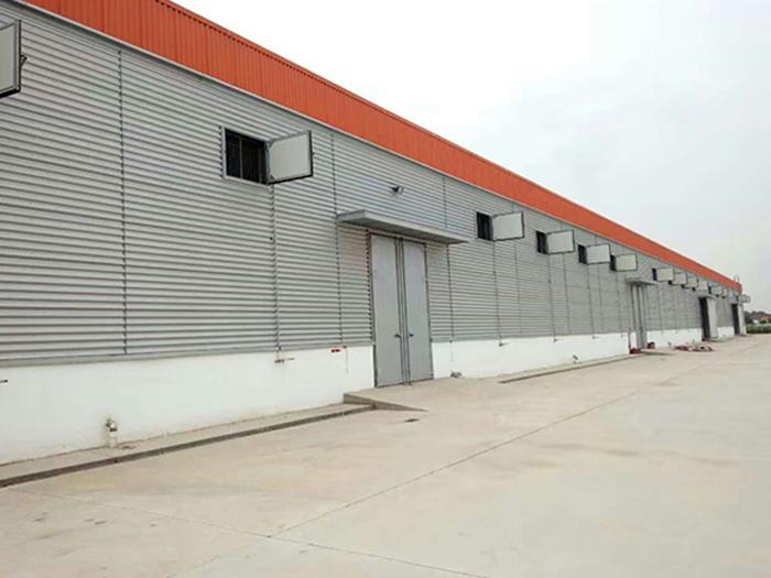 宁夏昊王米业集团钢结构厂房