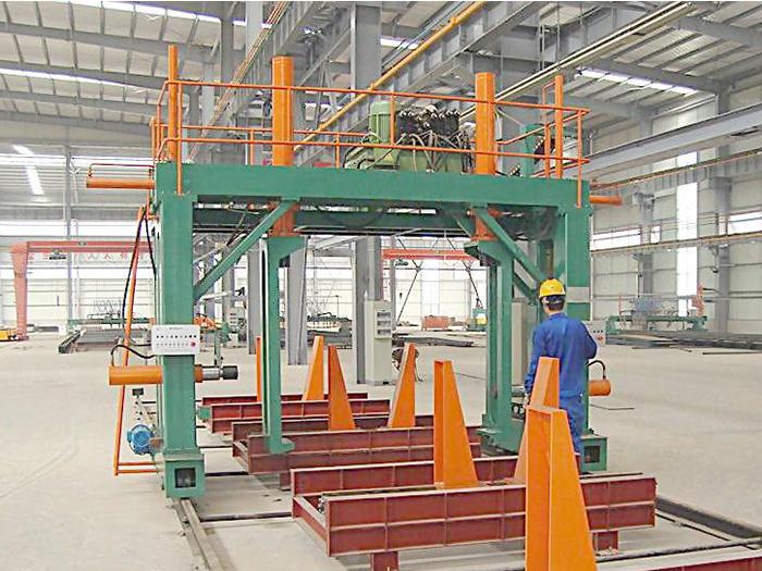 银川楼承板箱型柱组立机