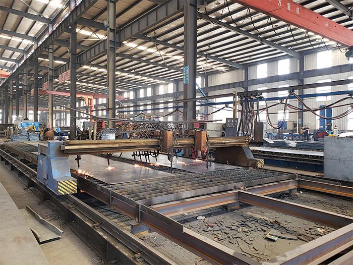 银川钢结构建筑厂区设备展示