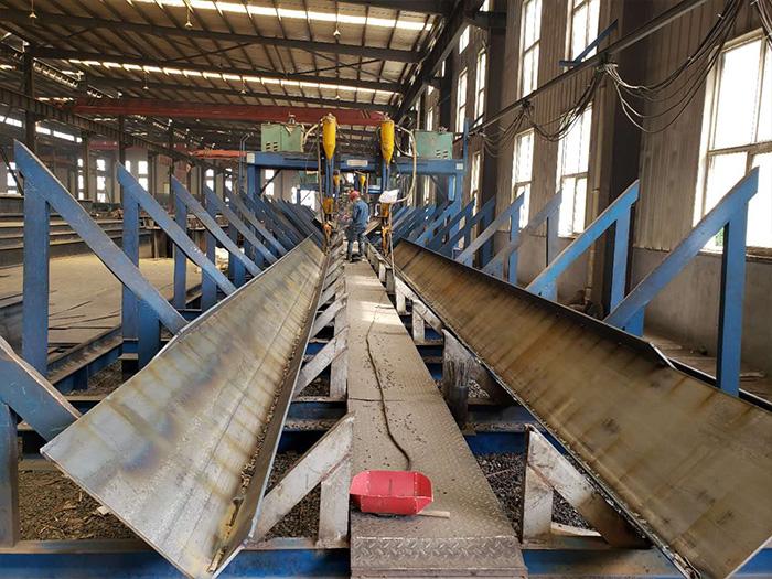 银川钢结构厂区内部环境展示