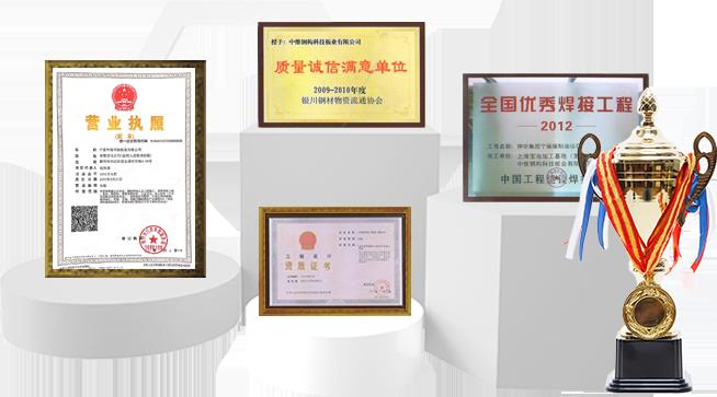 荣获多项资质证书