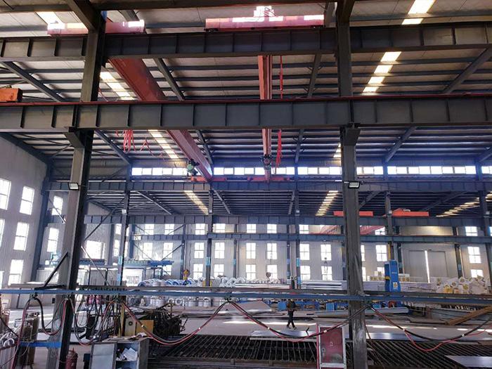 宁夏钢结构厂区环境展示