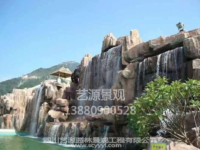 如何处理四川塑石假山防水工程