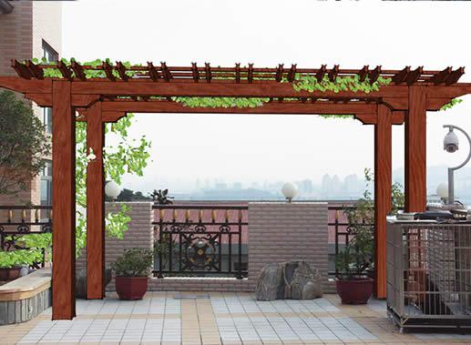木结构花架