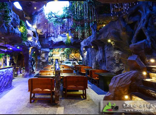 四川假山雕塑案例:猿世纪餐厅