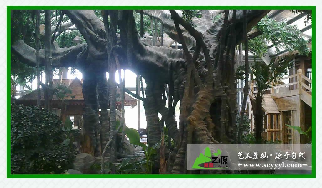 四川仿木假树施工价格