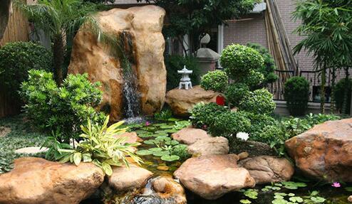 四川庭院假山水池施工步骤分享