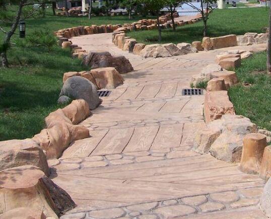 四川水泥仿木地板施工
