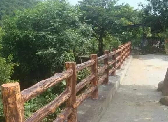 四川水泥仿木栏杆制作