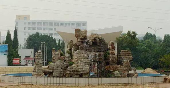 四川广场千层石假山
