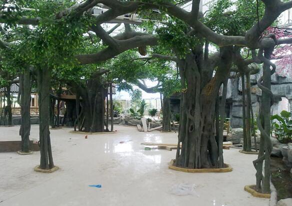 四川水泥假树施工