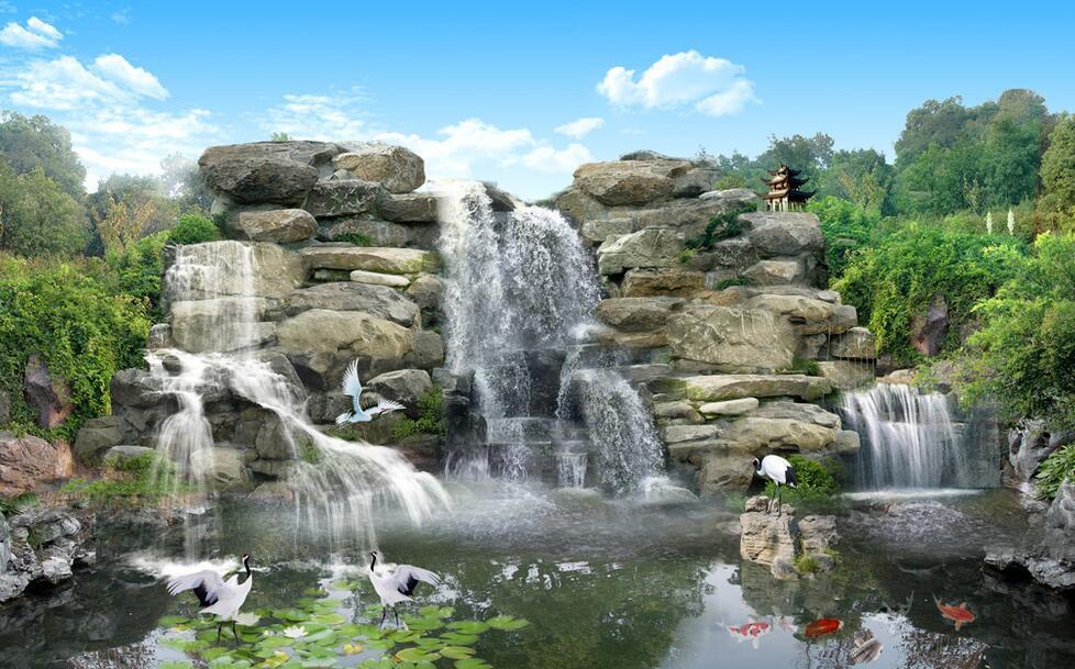 四川假山瀑布