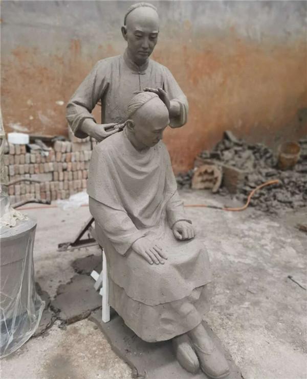 河南人物铜雕安装