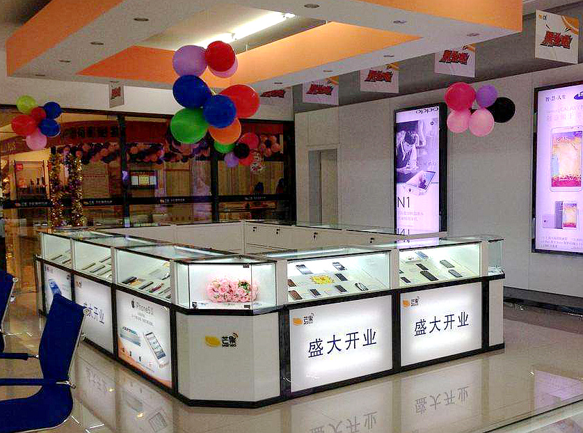 数码产品玻璃展柜