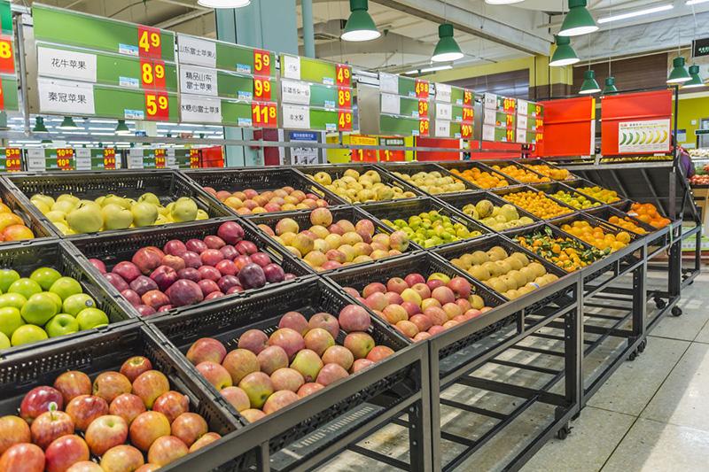 兰州蔬菜水果架