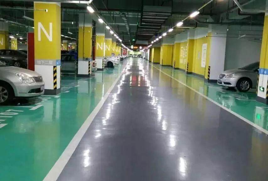 地下停车场行车道地坪工程