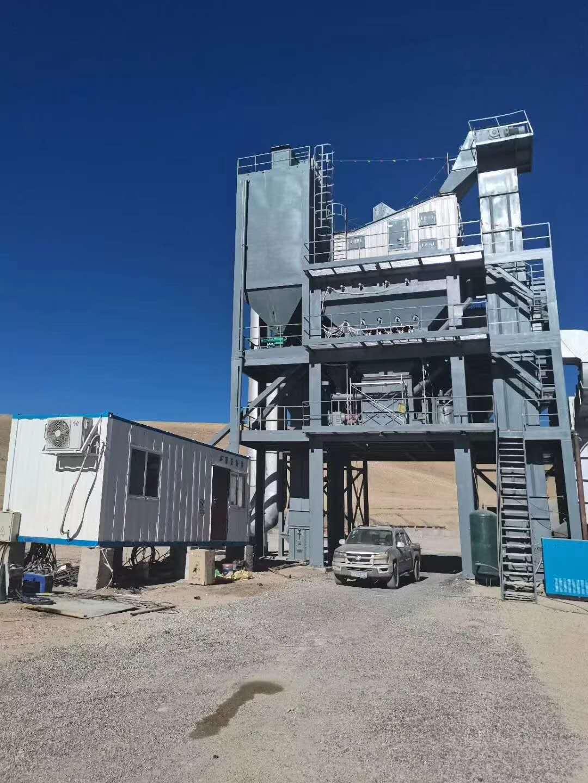 西藏阿里地区班公湖工地2500型沥青搅拌设备