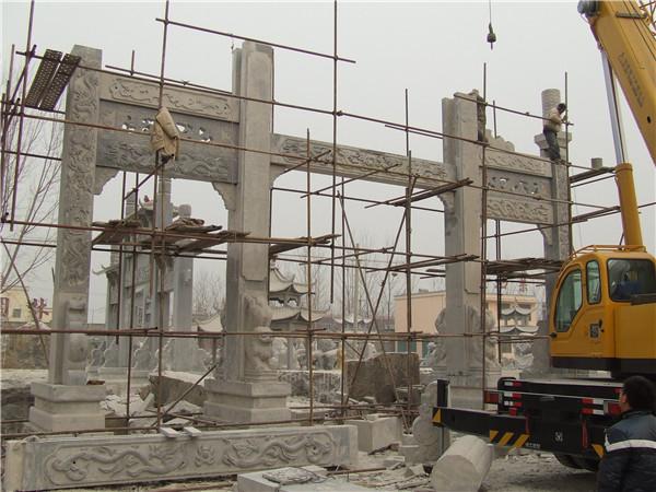 汉中牌楼工程施工