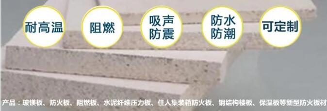 生产A级集装箱防火板活动房专用防火板