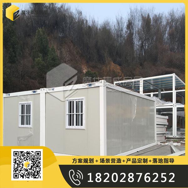 西藏工地移动彩钢集装箱板房现场指导