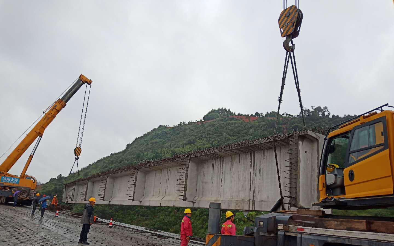 宜宾机场高速连线40米T梁架设