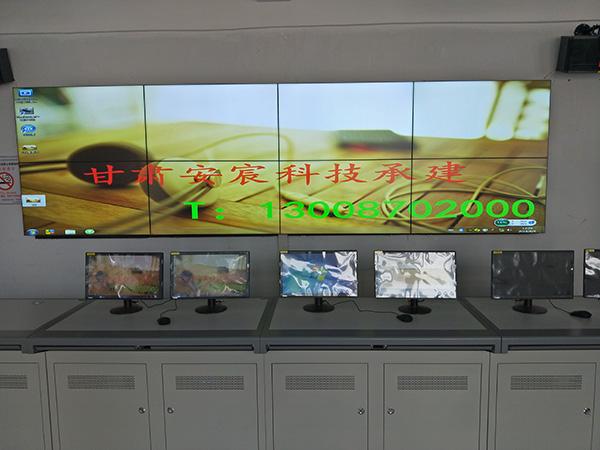 兰州某县政府会议室LCD3.5mm/55寸/2*4拼接屏