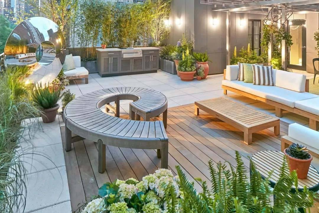防腐木楼顶花园设计