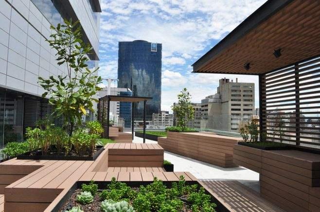 防腐木楼顶花园安装厂家