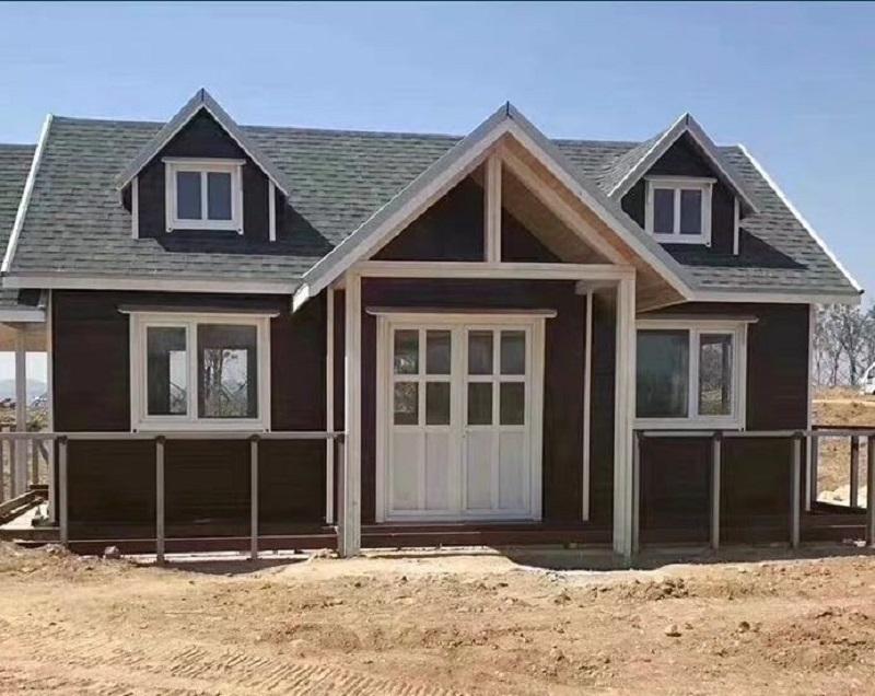 防腐木别墅安装
