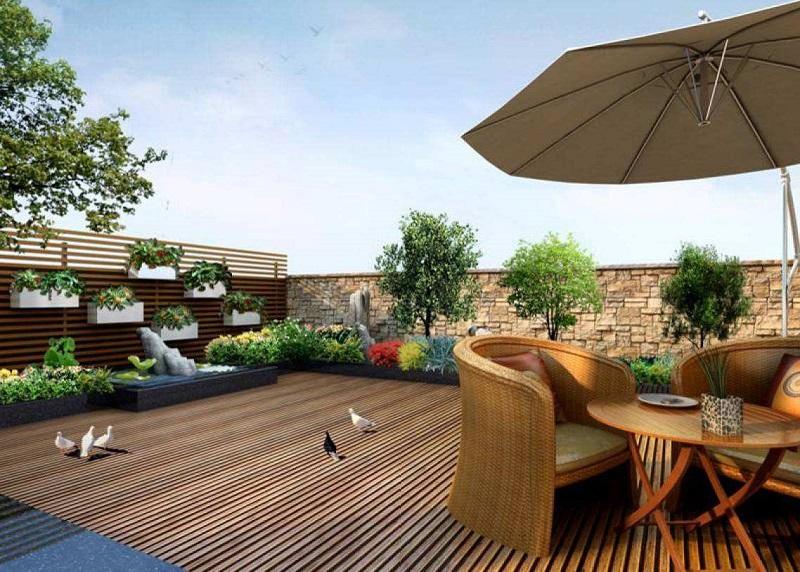 河南防腐木楼顶花园