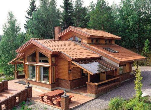 郑州防腐木别墅施工建筑,带您享受更自然地生活
