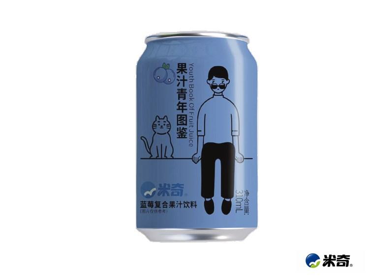蓝莓果汁青年图鉴310ml