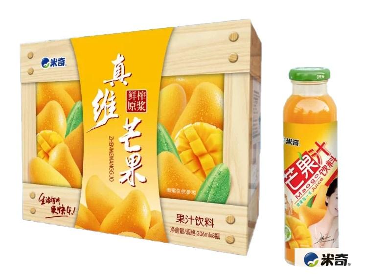 芒果果汁饮料306ml