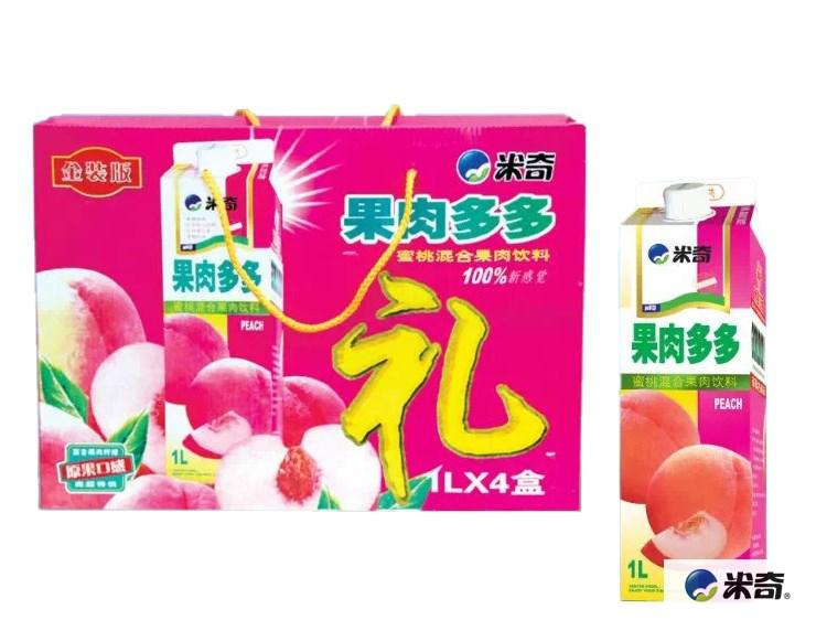 果肉多多蜜桃混合果汁饮料1L
