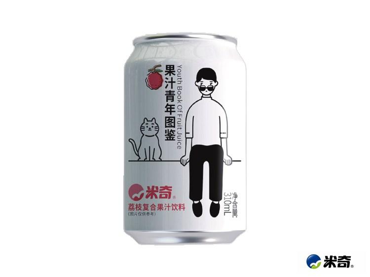 荔枝果汁青年图鉴310ml