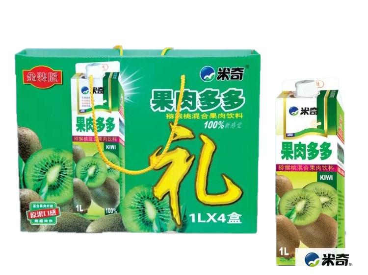果肉多多猕猴桃混合果汁饮料1L