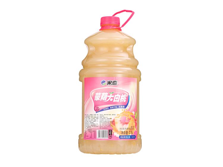 蒙荫大白桃果肉果粒饮料2.5L