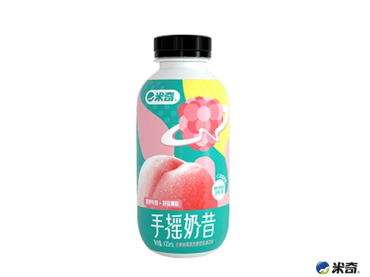 手摇奶昔白桃树莓味420ml