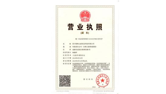 四川智然元素农业科技有限公司营业执照