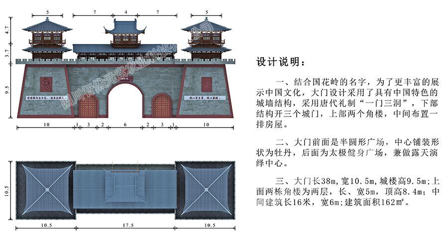 瑶池.牡丹城之国花岭北大门设计说明